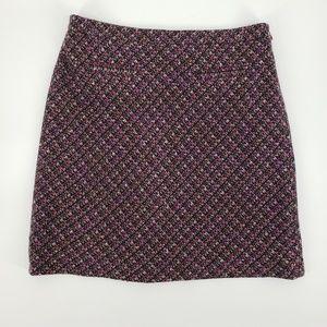 Loft Tweed A Line Skirt Sz 4P